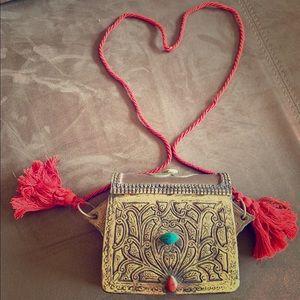 Handbags - Vintage Morocco Copper/Brass Carved Metal Purse